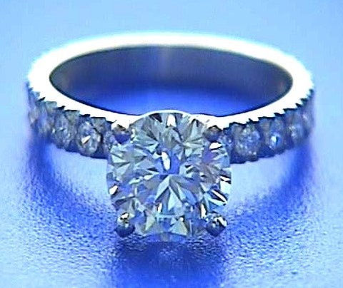 1.74ct F-VS2 Platinum Round Diamond Engagement Ring Round Diamond 900,000 GIA EGL CERTIFIED DIAMOMDS