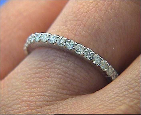 1.10ct Round Diamonds Eternity Wedding Ring Platinum JEWELFORME BLUE Stack ring not blue nile