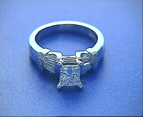 GIA certified 1.60ctPrincess Cut Diamond Engagement Ring BLUERIVER4747