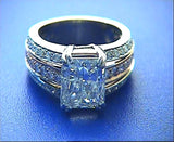 3.03ct Radiant Cut Diamond Engagement Ring GIA certified JEWELFORME BLUE