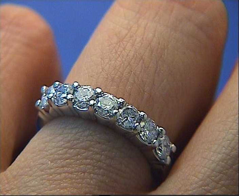 0.53ct Round Diamond Wedding Ring Platinum  JEWELFORME BLUE