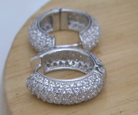Diamond Hoop Earrings 6.00ct JEWELFORME BLUE