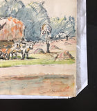 Armand Guillaumin Water Color Book 6 drawings Original 1918, Book #2 JEWELFORME BLUE