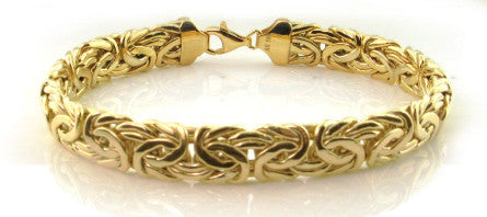 Byzantine Bracelet 14kt Yellow Gold JEWELFORME BLUE