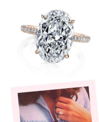 4.09ct J-SI2 Oval Diamond Engagement Ring  Blake Lively JEWELFORME BLUE GIA certified