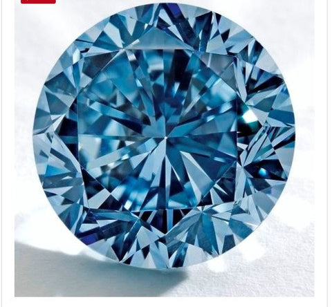 1.00ct Blue Loose Diamond Round Diamond JEWELFORME BLUE GIA certified
