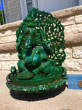 Ganesha God Emerald Statue JEWELFORME BLUE 45,350cts