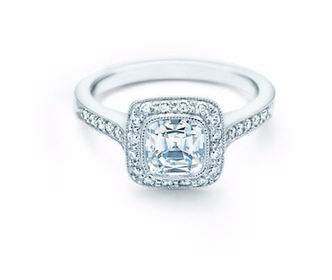 2.62ct Cushion Diamond Engagement Ring 18kt White gold  JEWELFORME BLUE GIA certified Pay #1