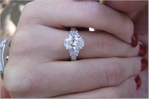 2 84ct Oval Diamond Engagement Ring Oval Half Moon