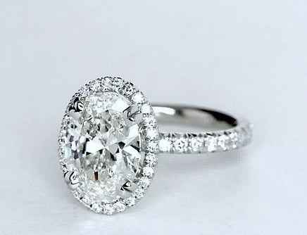 1.85ct G-SI1 Oval Diamond Engagement Ring GIA certified 18kt gold Gold