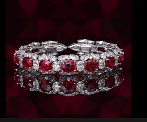 49.36ct Ruby Diamond Bracelet 18kt JEWELFORME BLUE
