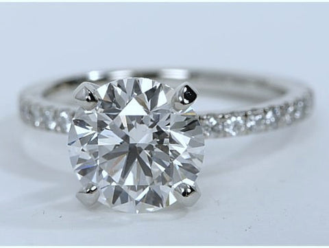 1.66ct G-SI1 Platinum Round Diamond Engagement Ring EGL certified
