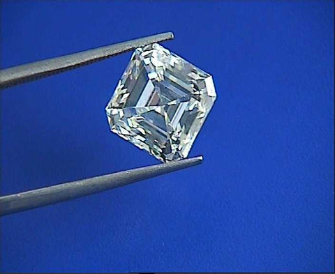 7.19ct J-VS1 GIA certified Asscher diamond JEWELFORME BLUE