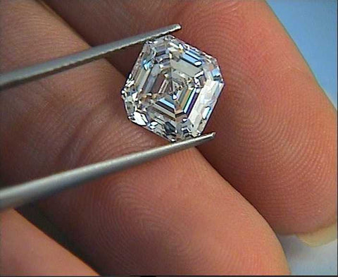 Loose Diamond Asscher 4.01ct G-VS1 GIA certified Engagement  JEWELFORME BLUE