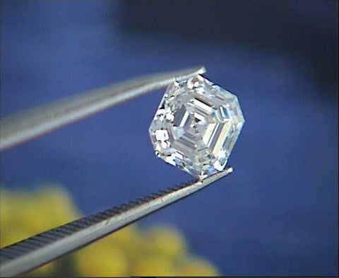 GIA certified 0.60ct G-VVS1  Asscher cut Loose Diamond GIA certified JEWELFORME BLUE