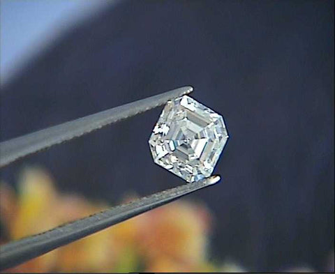 0.41ct H-VVS2  Asscher cut Loose Diamond GIA certified JEWELFORME BLUE