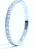 0.30ct Eternity Ring Round Diamonds PLATINUM JEWELFORME BLUE Stack Rings