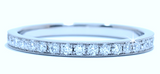 0.50ct Eternity Ring Round Diamonds White Gold 18kt White Gold JEWELFORME BLUE not blue nile