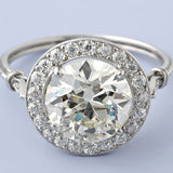 2.04ct Art Deco Round Diamond Engagement Ring EGL GIA certified 18kt  JEWELFORME BLUE