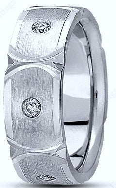 0.26ct Round Diamond Men's Wedding Ring Palladium