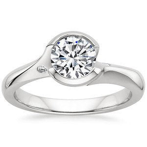 1.09ct G-SI1 Round Diamond Engagement Ring 18kt White Gold Fine Jewelry  Any Shape Any Size Birthday Anniversary Bridal Gift