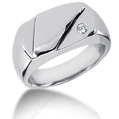 0.10ct Round Diamond Men's Wedding Ring PALLADIUM Birthday Anniversary Jewelry Gift