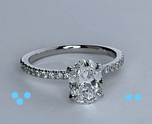 1.35ct F-SI1 Oval Diamond Engagement Ring 900,000 GIA certified diamonds JEWELFORME BLUE