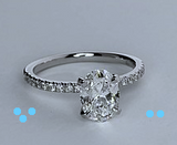1.65ct D- SI2 Oval Diamond Engagement Ring GIA certified diamonds JEWELFORME BLUE