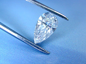 3.34ct Loose Diamond Pear shape GIA certified Diamond D-VS2 balance