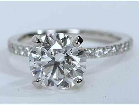 1.15ct F-VS2 Platinum Round Diamond Engagement Ring EGL certified