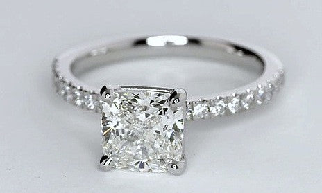 1.45ct Princess Cut Diamond Engagement Ring H-VS2 JEWELFORME BLUE GIA certified