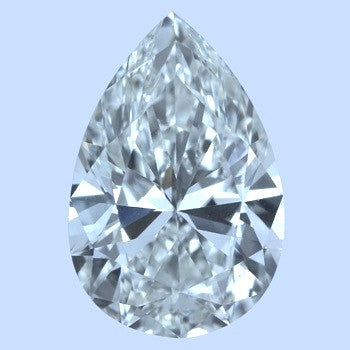 20.38ct I-VVS2 Pear Shape Diamond JEWELFORME BLUE Anniversary Bridal Birthday GIA Certified Gift