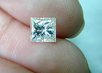 Loose Diamond Princess 1.02ct G-VVS2 certified Jewelry JEWELFORME BLUE