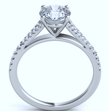 0.35ct G-VS 18kt Round Diamond Engagement Ring setting JEWELFORME BLUE Split diamond Cathedral