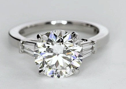 3.43ct H-SI1 Round Diamond Engagement Ring GIA certified JEWELFORME BLUE 900,000 GIA EGL Platinum