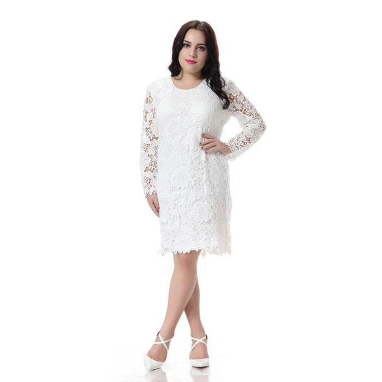 Caly & Kaana Plus Petal Kiss Lace Dress