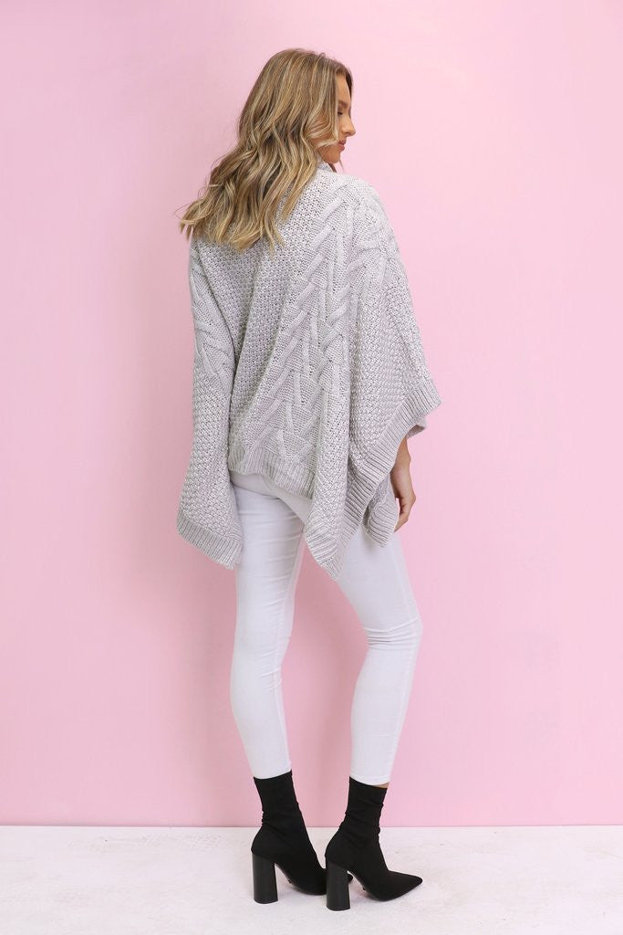 Bells Out Poncho | Grey