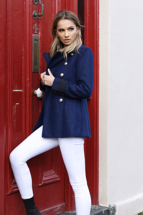 Buckingham Military Coat | Navy