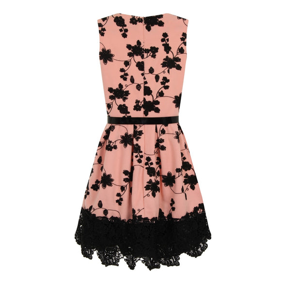 Floral Embroidery Dress - Pink or Beige