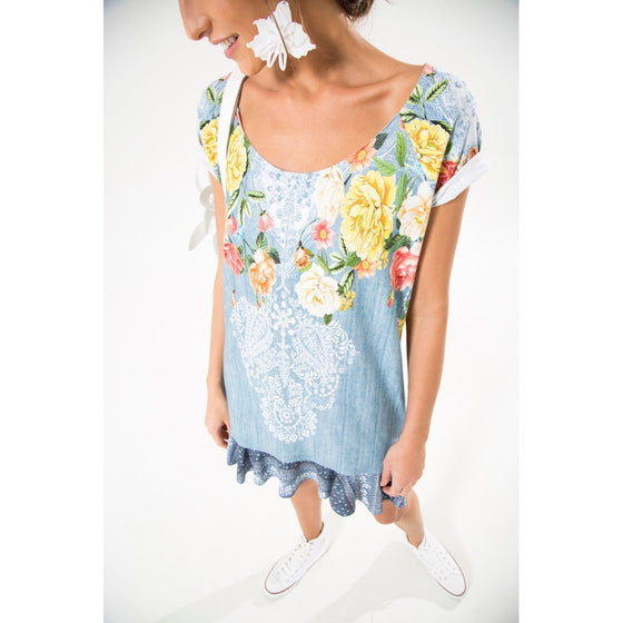 Rosebush Denim Dress