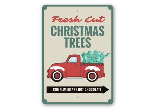 Fresh Cut Christmas Trees Sign