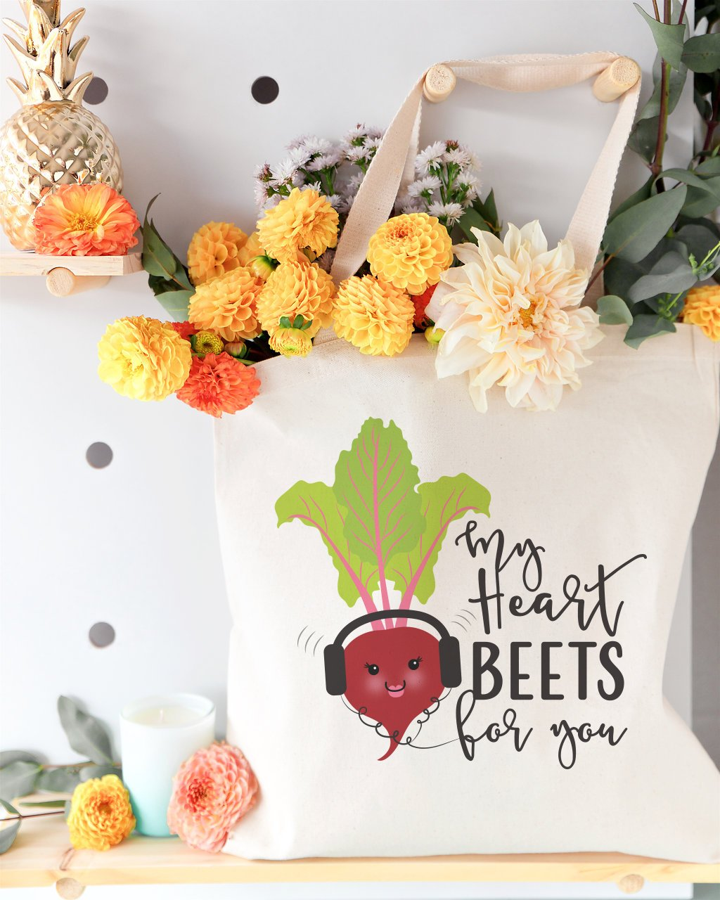 My Heart Beets for You Cotton Canvas Tote Bag