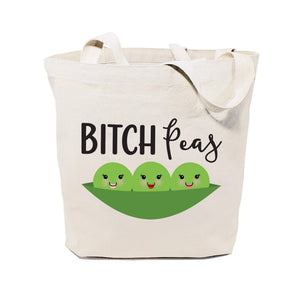 Bitch Peas Cotton Canvas Tote Bag