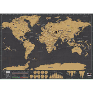 Colorful Scratchable World Map Sticker Added Bonus