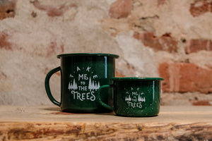 The Trees Enamel Cup Candle
