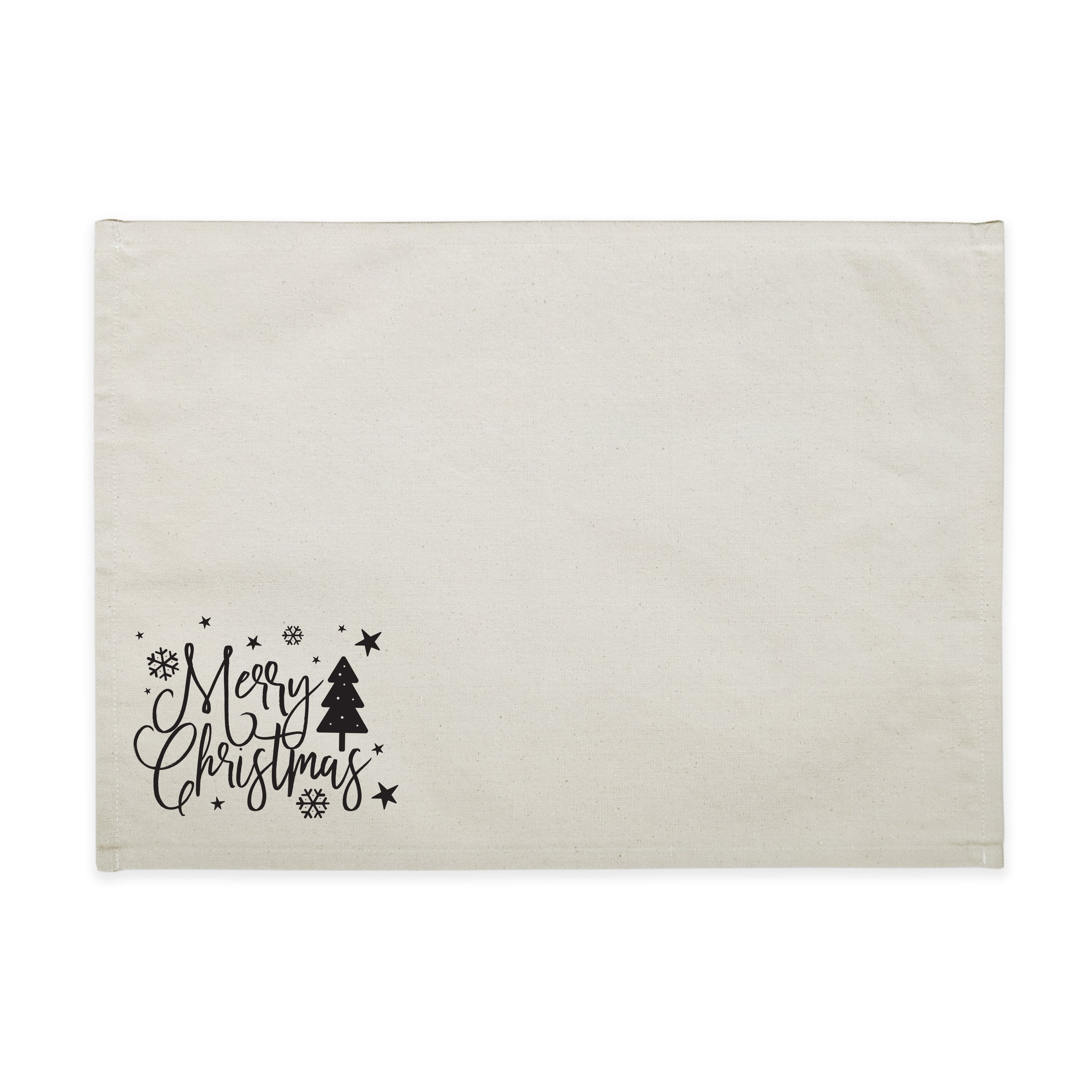 Merry Christmas Cotton Canvas Party Place Mat