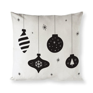 Hanging Ornament Christmas Holiday Pillow Cover