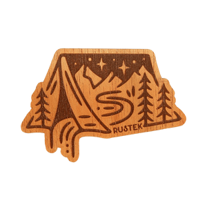 Camping InTent Wood Sticker