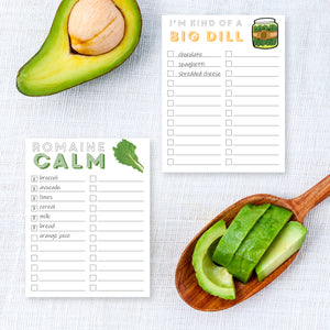 Funny Foods Notepads