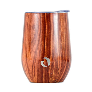 DRINCO® 12oz Insulated Wine Tumbler Glass (Woodland)